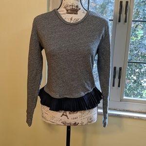 J. Crew Sweater with Pleated Hem